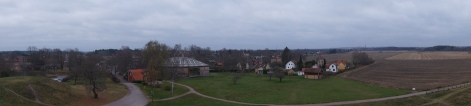 From the top of the wall you could see both old and new Uppsala.