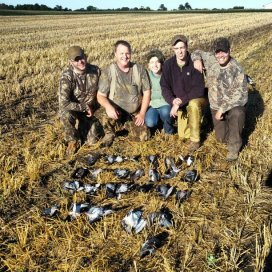 "5. Foul hunting with my dad, ""uncles"", and cousin."