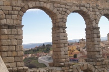 10. During our day trip to see the roman aqueducts in Segovia.