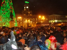 10. New Year's in the Plaza del Perta de Sol. Madrid.